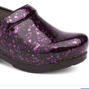 DANSKO Pro XP Stapled Purple Glitter Clogs